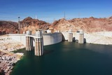View of the Hoover Dam and Lake Mead