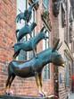 Leinwanddruck Bild - Bremer Stadtmusikanten, Bremen