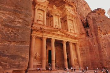 View of the treasury Al Khazneh, Jordan