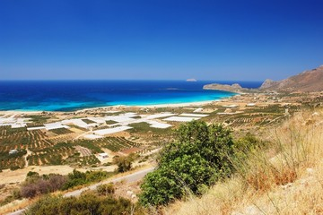 View of the Falassarna beach, Crete
