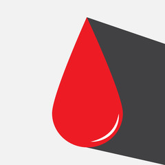 blood drop vector icon