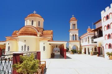 Greek monastery in the Spili, Crete, Greece