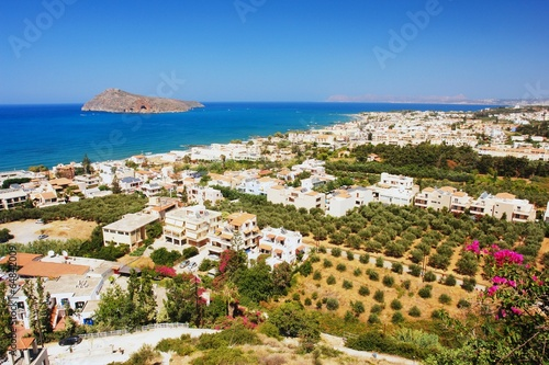 Leinwandbild Motiv View of the Platanias, Crete