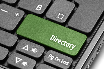 Directory. Green hot key on computer keyboard