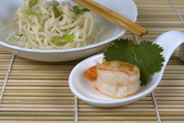 Shrimp Dim Sum with Noodles