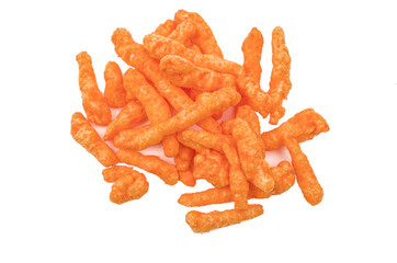 orange cheese flavoured snacks