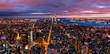 Aerial New York panorama at dusk