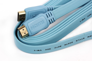 Blue HDMI cable