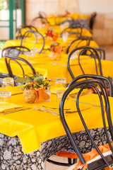Yellow tables