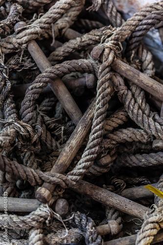 Worn rope ladder