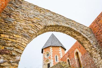 Chapel and walls on Medvedgrad castle