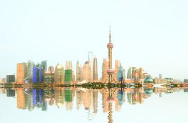 Shanghai bundskyline night