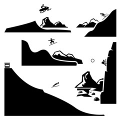 Extreme Sports Pictogram Icon Cliparts