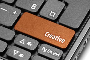 Creative. Orange hot key on computer keyboard