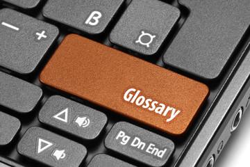 Glossary. Orange hot key on computer keyboard