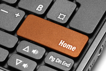 Home. Orange hot key on computer keyboard
