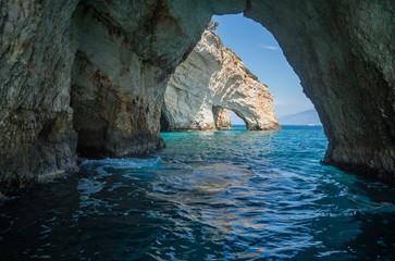 Blue caves, Zakinthos, Greece