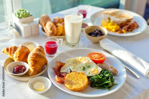 Fotobehang Assortiment delicious breakfast