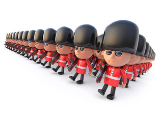 3d Marching Coldstream Guards