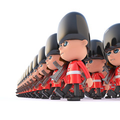 3d Close up Coldstream Guards