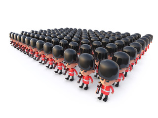3d Coldstream Guards formation