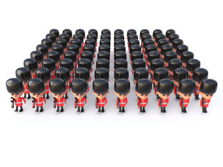 3d Coldstream Guards top view