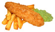 Fish And Chips With Mushy Peas - 64847061