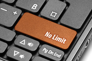 No Limit. Orange hot key on computer keyboard