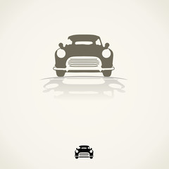icon design - silhouette car vector