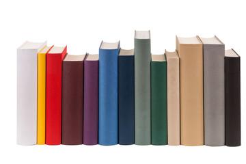 Reihe aus Büchern