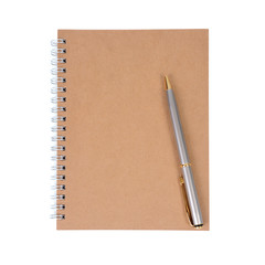 Note book and pen.