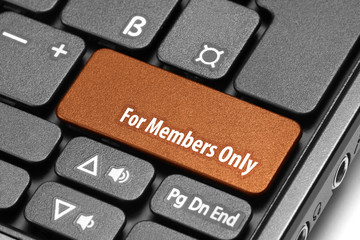 For Members Only. Orange hot key on computer keyboard