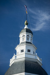 Annapolis Maryland white dome historical house