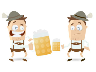 bayerisches bier prost maßkrug