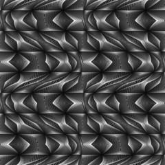 Design seamless monochrome movement illusion geometric pattern