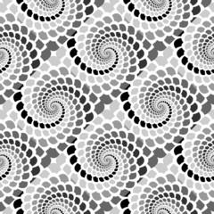 Design seamless monochrome helix movement snakeskin pattern