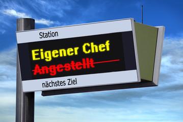 Anzeigetafel 3 - Eigener Chef