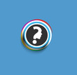 Modern stylish colors question mark web icon design element.