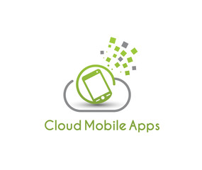 Symbol of Cloud Mobile Apps, vector illustration
