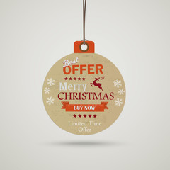 Christmas Bauble Price Sticker
