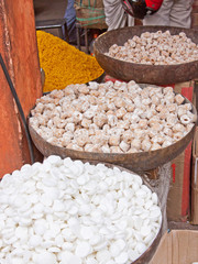 Indian sweetmeats on display in Jaipur market