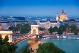 Chain Bridge, St. Stephen's Basilica in Budapest - 64850437