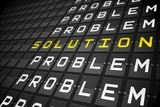 Problems and solution on black mechanical board poster