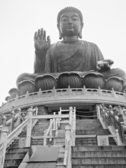 large bronze statue of Buddha