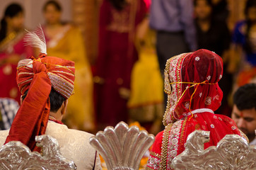 bride and groom, wedding, Rajasthan , India