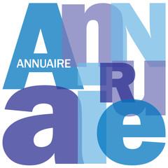 """Mosaïque de Lettres """"ANNUAIRE"""" (coordonnées contacts recherche)"""