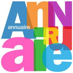 """Mosaïque de Lettres """"ANNUAIRE"""" (renseignements coordonnées)"""