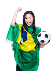 Female football supporter