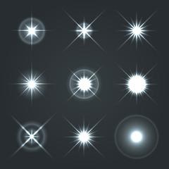 Light Glow Flare Stars Effect Set 2.