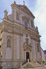 Exterior and architecture of Dominican church in Vienna